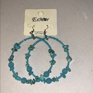 EsMor Open Hoop Drop Earrings